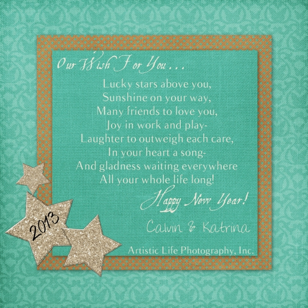 Our Wish For You - Teal-Mocha